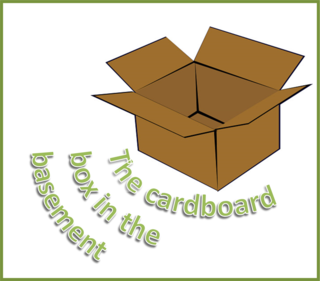The cardboard box in the basement by BN Heard (c)