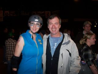 Picture from my trip to see the Dooms Daisies and Sugar Kill Gang Roller Derby bout in Denver, CO. They are part of the Rocky Mountain Rollergirls Roller Derby organization.