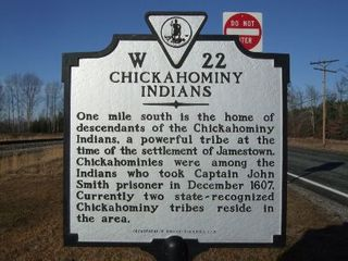 Chickahominy Indians were all around Williamsburg.