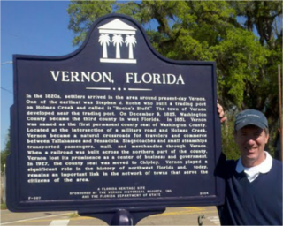Me and the Vernon, Florida Sign