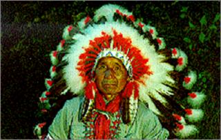 Chief Daniel Hornbuckle of the Cherokee Indians