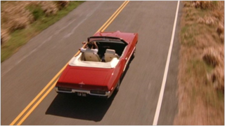Andy Dufresne driving in The Shawshank Redemption