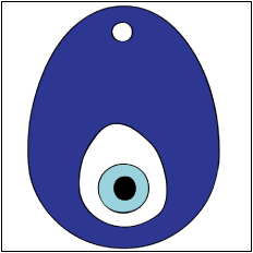 "a Nazar to ward off the ""evil eye"""