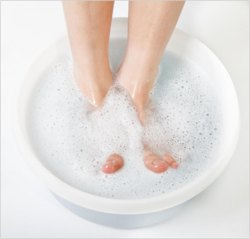 Soaking Your Feet in Epsom Salts