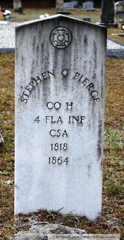 Stephen G. Pierce, buried at the Washington Church, Vernon, Florida