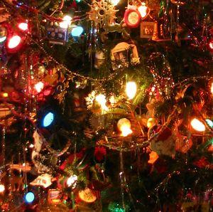 """I love the old """"big"""" Christmas tree lights"""