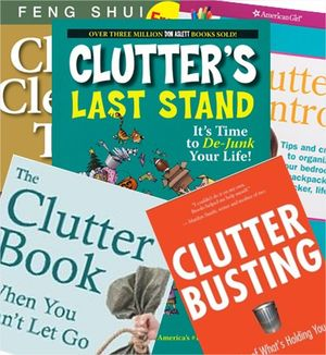 Books about clutter actually are clutter