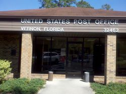 Post Office in Vernon, Florida, Zip Code 32462