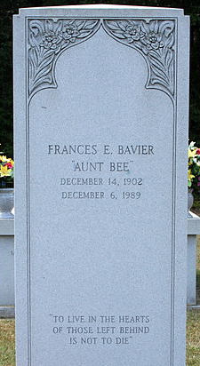 Aunt Bee's Grave