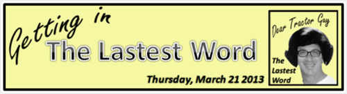 The Lastest Word March 21 2013