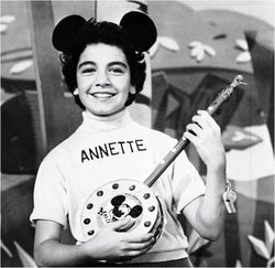 Annette as a Mousketeer