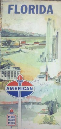 1962 American Oil Florida Road Map (with Papa's handwriting on it)