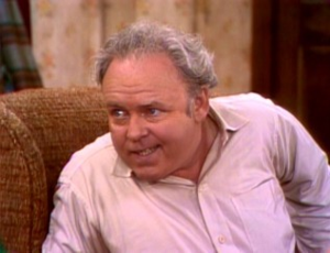 Archie Bunker sitting in his chair...