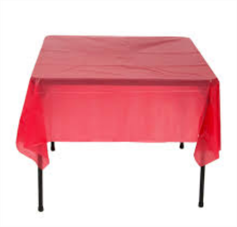 There Is Something Majestic About Folding Tables With Plastic Tablecloths.