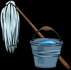 Janitor or Custodian mop bucket