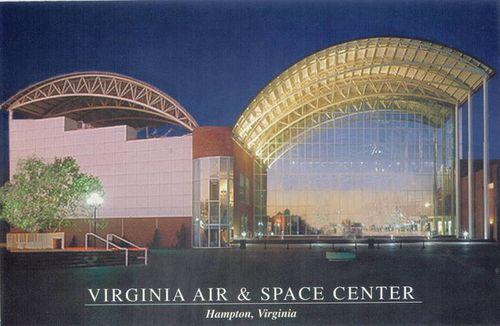 Virginia Air & Space Museum at night